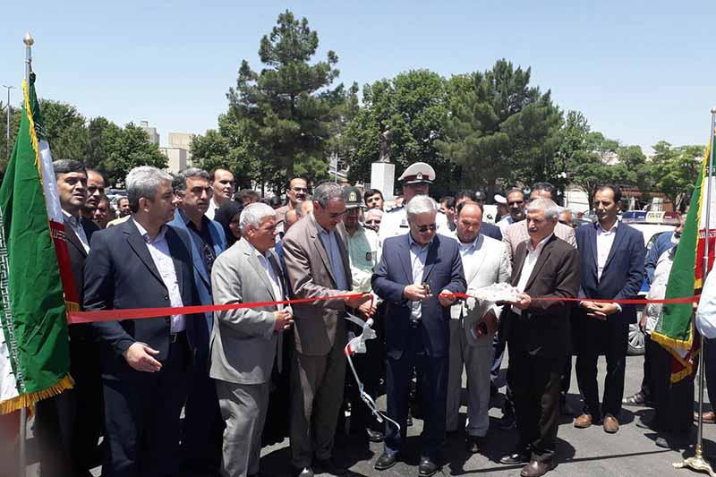 آیین افتتاح پروژه تعریض پل حاج زین العابدین مراغه ای