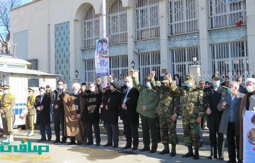 راهپیمایی ۲۲ بهمن مراغه متفاوت تر از همیشه