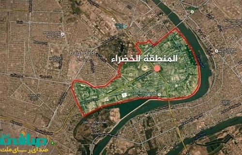 شنیده شدن صداهای انفجار و آژیرهای خطر در نزدیکی منطقه سبز بغداد