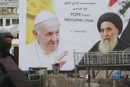 پاپ فرانسیس با آیت الله سیستانی دیدار کرد