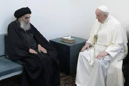 بیانیه دفتر آیت الله سیستانی درباره دیدار با پاپ