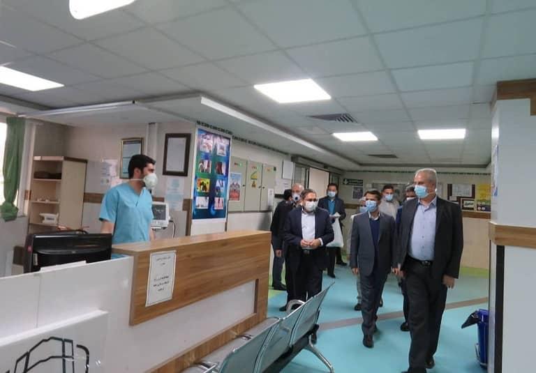 حضور فرماندار مراغه در بیمارستان امیرالمومنین پس از تحویل سال نو
