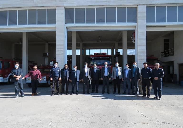 حضور فرماندار مراغه در سازمان آتش نشانی و خدمات ایمنی در نخستین روز از سال نو