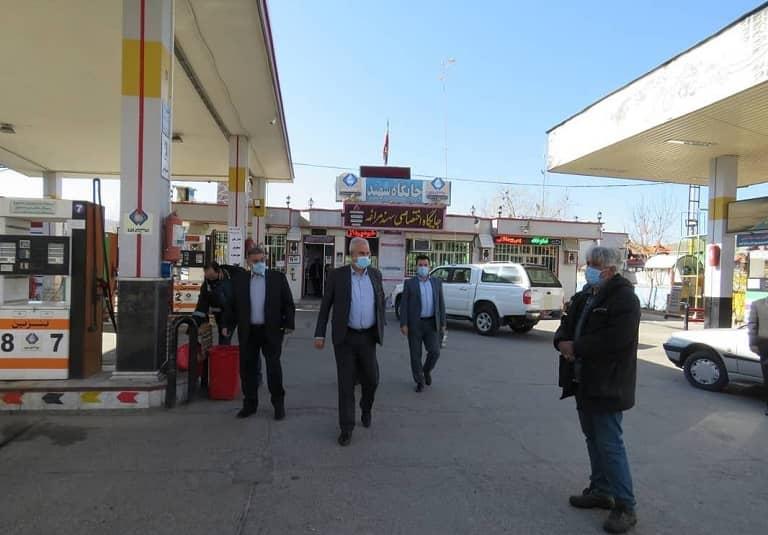 حضور فرماندار مراغه در پمپ بنزین های بین راهی در نخستین روز از سال نو