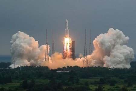 بقایای موشک چینی در ترکمنستان فرود می آید
