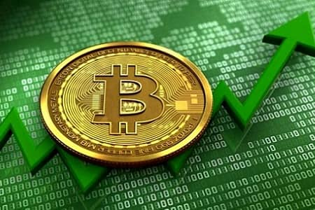 افزایش قیمت بیت کوین تا حدود ۵۵ هزار دلار